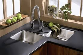 white sink black countertop furniture luxury kitchen design with white modern kitchen counter