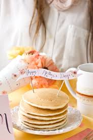 pan cake topper free diy s day breakfast in bed printables pancakes free