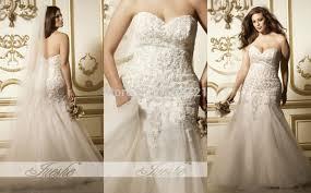 plus size fit and flare wedding dress obniiis com