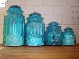 canisters for the kitchen colored glass canisters kitchen home design