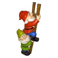 amazon com garden gnome statue up the ladder climbing gnomes