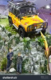uaz hunter interior moscowseptember 8 russian offroad car uaz stock photo 112946266