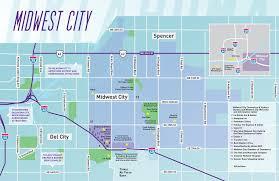 Okc Map Map Midwest City Convention And Visitors Bureau