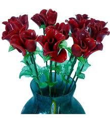 dalia in vaso fiore da vaso bocciolo in pasta di vetro colorata