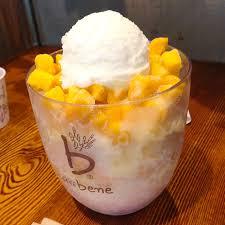 mango bingsu caffebene korean food pinterest cafes food