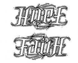 faith ambigram sketch design tattoomagz