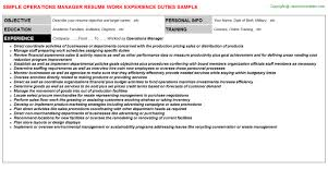 Sample Resume Operations Manager by Sample Resume Operations Manager Real Estate Accountant Cover