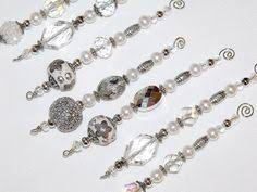 beaded icicles with a curled wire hanger pic for inspiration no
