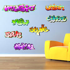 graffiti words teen kids childrens wall art sticker each word graffiti words teen kids childrens wall art sticker each word approx 37cm w x 12cm h you get all the words as displayed in the listing tr20