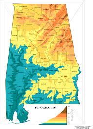 alabama zone map alabama topographic map mapsof