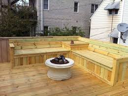 wooden deck with corner deck benches deck benches for seating