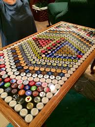 beer cap table top how to make a beer cap table top j ole com