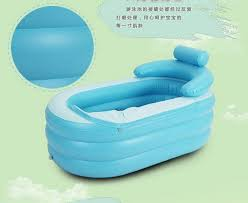 Collapsible Bathtub For Adults Pvc Folding Portable Bathtub Inflatable Bath Tub Air Pump No