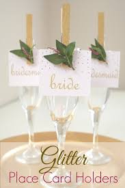 Diy Table Number Holders Glitter Clothespin Place Card Holders Catch My Party