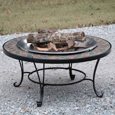 slate fire pit table titan 40 round mosaic slate top fire pit table w log grate scree