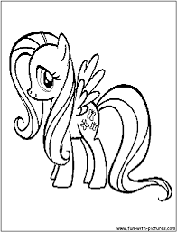 my little pony friendship is magic coloring pages baby fluttershy