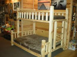 TimberJack Handmade Log Bunk Bed Kit Wood Bunk Bed Kit Log - Log bunk beds