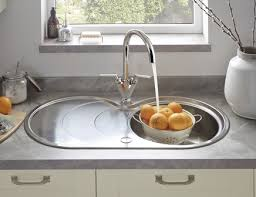 Lamona Round Bowl Sink With Drainer Stainless Steel Kitchen - Kitchen bowl sink