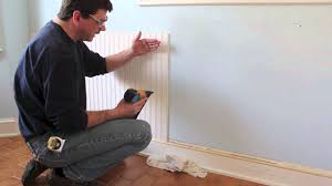 wainscoting over bathroom tile amys office