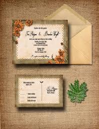 country wedding invitations custom wildflower wedding invitation with rsvp country wedding