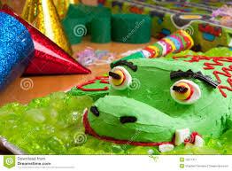 kids birthday cake and decorations stock image image 15577411