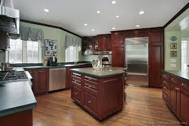 Most Popular Kitchen Cabinet Colors Traditional Dark Wood Cherry Kitchen Cabinets 53 Kitchen Design
