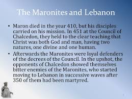 Council Of Chalcedon Teachings History Of The Maronite Church 1 Maronite History Antioch