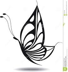 butterfly silhouette stock illustration illustration of