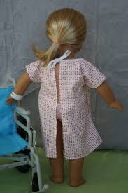 arts and crafts for your american doll hospital gown and