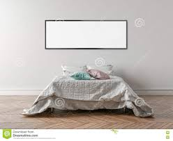 Empty White Bedroom Empty Bedroom With A King Size Bed And A White Wall In The Backg