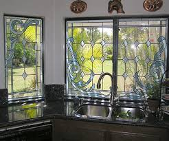 faux stained glass kitchen cabinets stained glass overlay studio glassworks llc