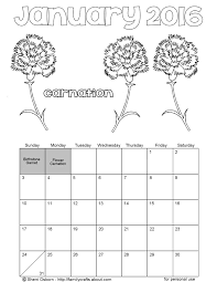blank calendar coloring pages
