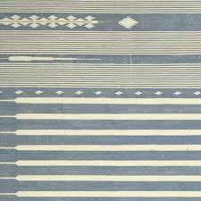 Grey Dhurrie Rug Sanskrit Striped Cotton Dhurrie Rug Large Oka