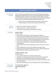 Welder Job Description For Resume Welding Foreman Resume Sample And Welding Resumes Examples Papei
