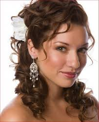 side ponytail hairstyles for long curly hair with headband for wedding