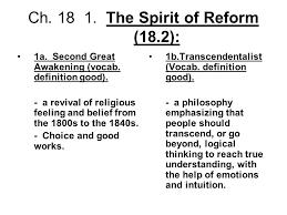 ch the spirit of reform 18 2 ppt