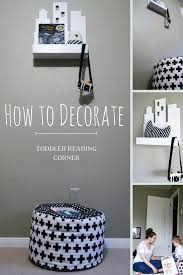 how to decorate toddler reading corner beauty and the binky