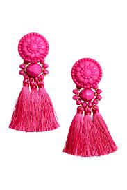 hm earrings earrings with tassels pink h m gb