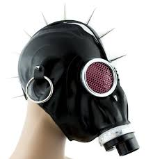gas mask costume wwii style spike gas mask deathrock clothing