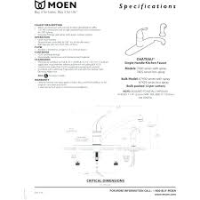 how to install moen kitchen faucet moen kitchen faucet installation ladyroom club