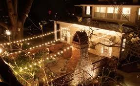 how to string lights across backyard backyard deck patio string lights 5540 lighting hanging across a