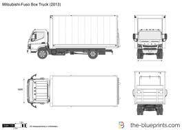 the blueprints com vector drawing mitsubishi fuso box truck