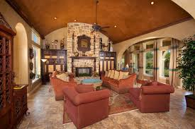 Tuscan Style Home By Jim Boles Custom Homes Mediterranean - Tuscan family room
