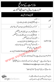engro fertilizers jobs 2017 for mill wright field machinist latest