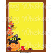 critter clipart of a pumpkin and black cat halloween background by