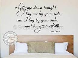 citation chambre bedroom wall sticker quote sam smith lay me