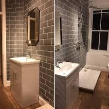 Grey Metro Bathroom Tiles Approx 100 Metro Flat Gloss White Kitchen Wall Tiles 20x10cm In