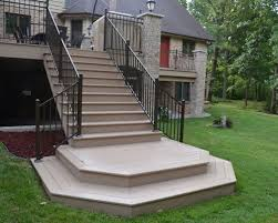 composite deck stairs houzz