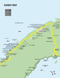 map of roatan honduras roatan maps roatan honduras travel guide