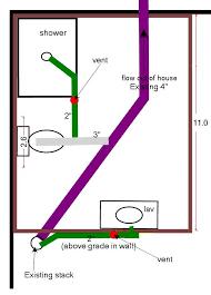 Plumbing For Basement Bathroom by Basement Bathroom Use Shower Vent For Toilet Ridgid Plumbing
